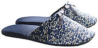 """Тапочки синего цвета комнатные женские с золотистым узором тм """"Sharming"""", фото 1"""