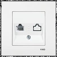 VIKO Karre Розетка компьютерная одинарная  Белый (90960032)
