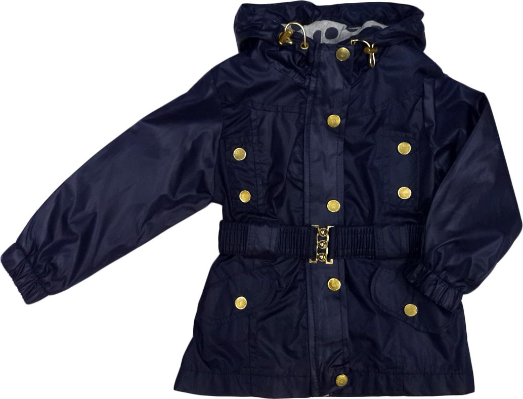 Куртка ветровка с капюшоном демисезонная Gocux kids club для девочки синяя размер 92
