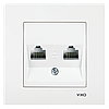 VIKO Karre Розетка компьютерная двойная  Белый (90960034)