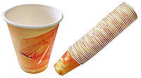 Одноразовые картонные стаканы 270г (Чай, Разноцветные) 50шт в уп. цена за уп. Одноразовая посуда