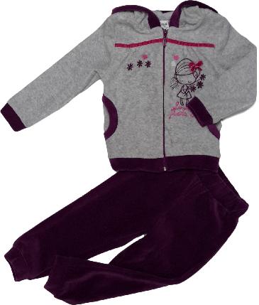 Спортивный костюм детский ТМ Бемби для девочки КС 438, Украина, велюр,  размер 92, фото 2