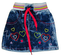 Юбка джинсовая р.1,2,3,4 года.
