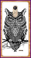 Чехол на телефон Leagoo M5 с рисунком совы