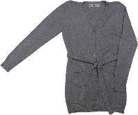 Кардиган для девочки Nice Wear на пуговицах серый размер 116