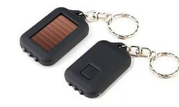 Фонарик-брелок с солнечной панелью AX-001, 4 диода, ОЕМ