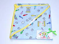 Байковый  уголок для купания (голубой с игрушками)