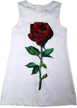 Платье нарядное с принтом ТМ New Point белое размер 116 122 128 134 140, фото 2