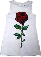 Платье нарядное с принтом ТМ New Point белое размер 116 122 128 134 140