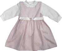 Сарафан и кофта детские ТМ Маленьке Сонечко белый розовый размер 56, 62