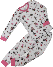 Пижама для девочки ТМ Татошка ( 01602 ) розовая размер 116
