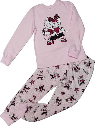 Пижама для девочки с начесом ТМ Бемби ПЖ42 розовая размер 128, фото 2