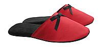 """Тапочки атласные красного цвета женские комнатные тм """"Sharming"""", фото 1"""