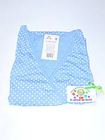 Ночная рубашка для родов и кормления 48 размер (голубой)