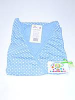 Ночная рубашка для родов и кормления 46 размер (голубой)