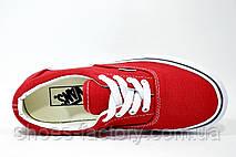 Женские Кеды в стиле Vans Old Skool, Красный\белый, фото 2