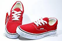 Женские Кеды в стиле Vans Old Skool, Красный\белый, фото 3
