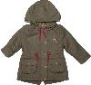 Куртка парка демисезонная с капюшоном для девочки ТМ Bembi КТ124 хаки размер 74
