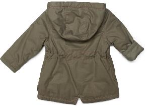 Куртка парка демисезонная с капюшоном для девочки ТМ Bembi КТ124 хаки размер 74, фото 2