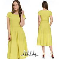 Женское платье клеш Мириам горчица
