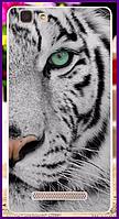 Чехол на телефон Cubot rainbow с рисунком белого тигра