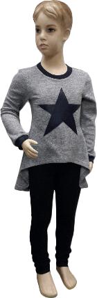 "Кофта туника детская ""Звезда""  на девочку размер 110 116 122 , фото 2"