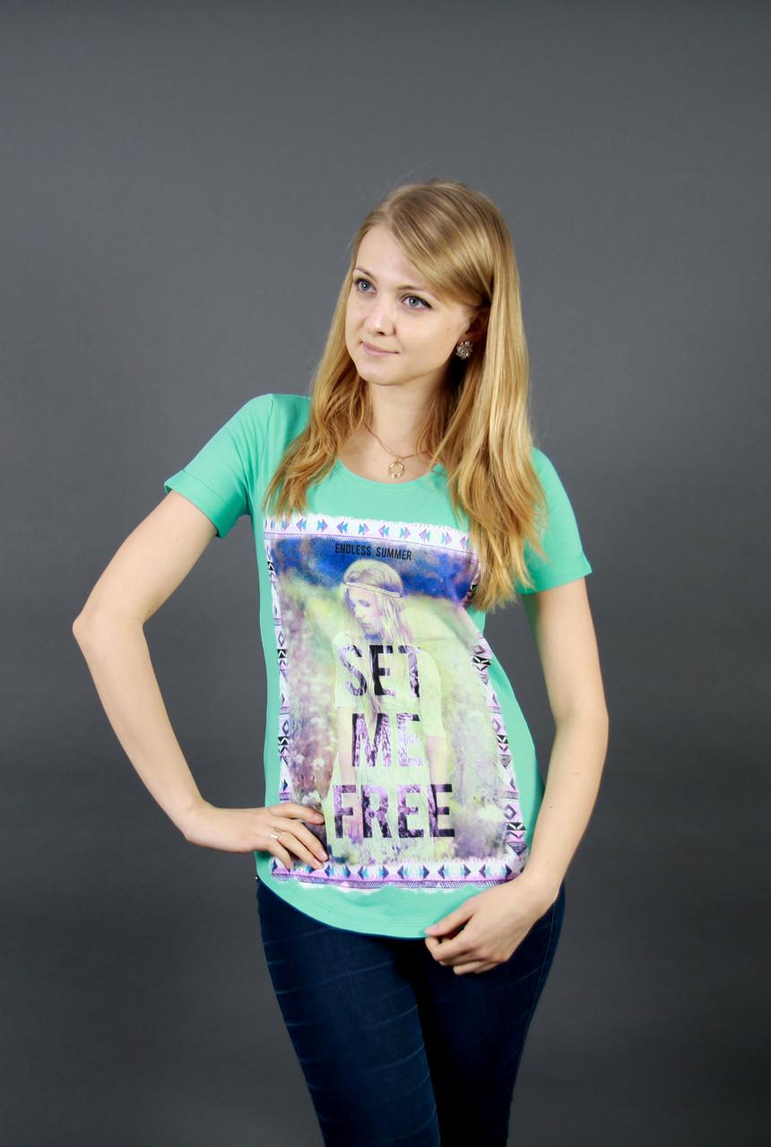 Женская футболка с красивым рисунком