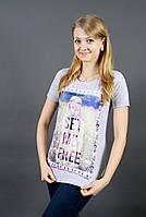 Женские футболки с надписью и рисунком