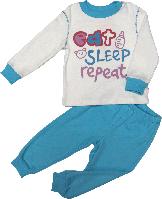 Пижама детская ТМ Бемби ПЖ40 белая бирюзовая размер 80