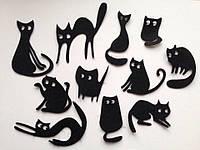 Вырезка котята Фетр 40-70 мм черные 3 шт в упаковке (товар при заказе от 200 грн)