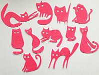 Вырезка котята Фетр 40-70 мм розовые 3 шт в упаковке