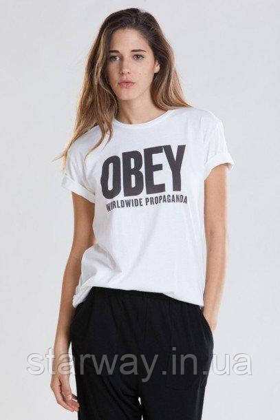 Футболка Obey Worldwide Propaganda logo