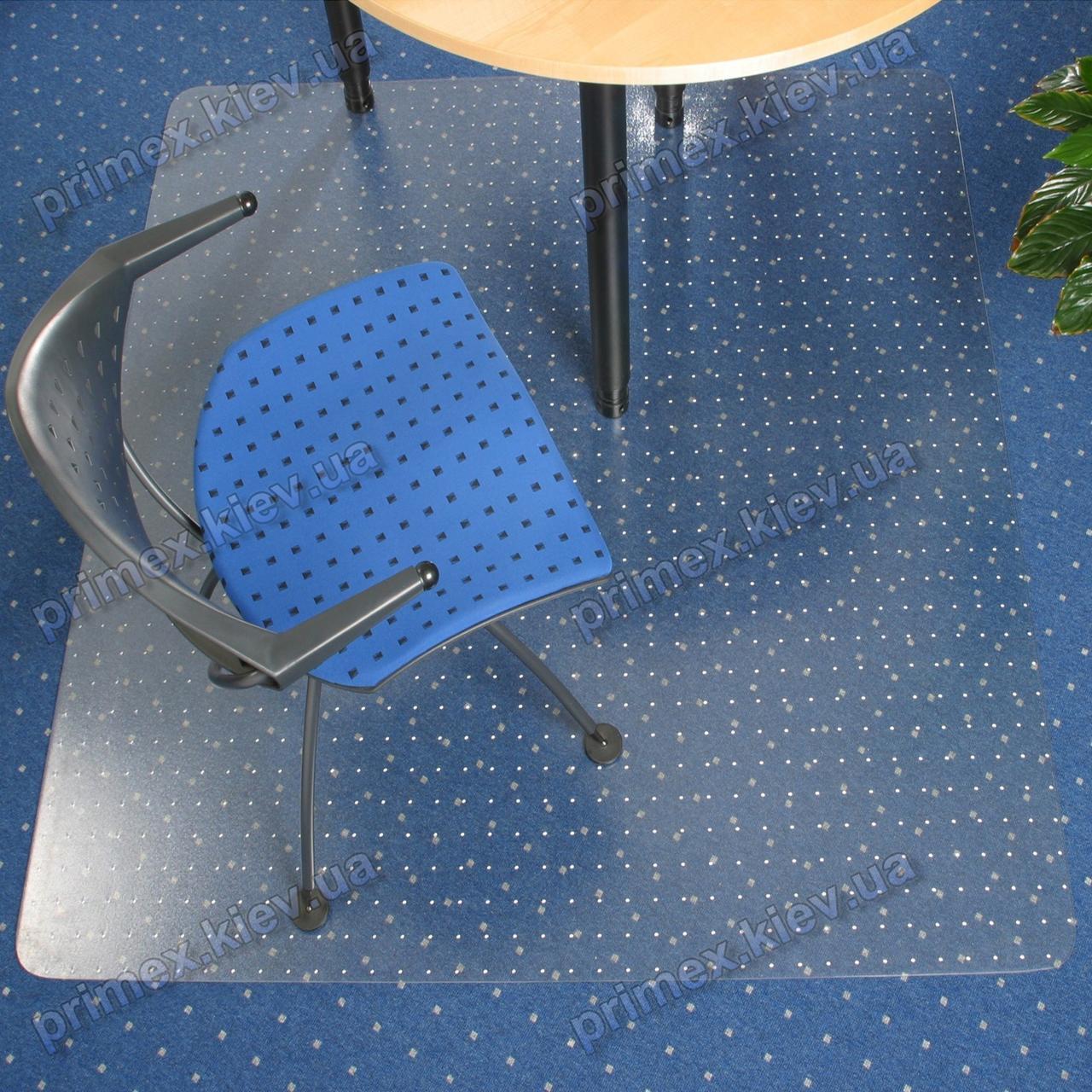 Ковер под кресло прозрачный 121х121см Германия для ковролина. Толщина 2,3мм