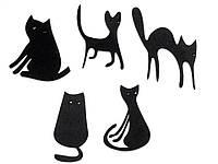 Вырезка котята Фоам 40-70 мм черные 3 шт в упаковке