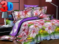 Комплект постельного белья 3D Арт. Лебеди - полуторный
