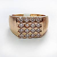Перстень позолоченный xuping 20р печатка мужская 236