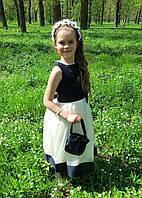 Длинное нарядное платье. Размеры: 6, 7 лет