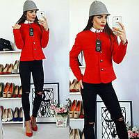 Жакет женский, модель 21, красный