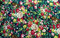 Ткань Цветы на синем фоне 150х150мм