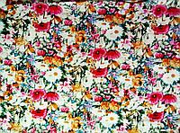 Ткань Яркие цветы 150х150мм