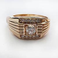 Перстень позолоченный xuping 19р печатка мужская 237