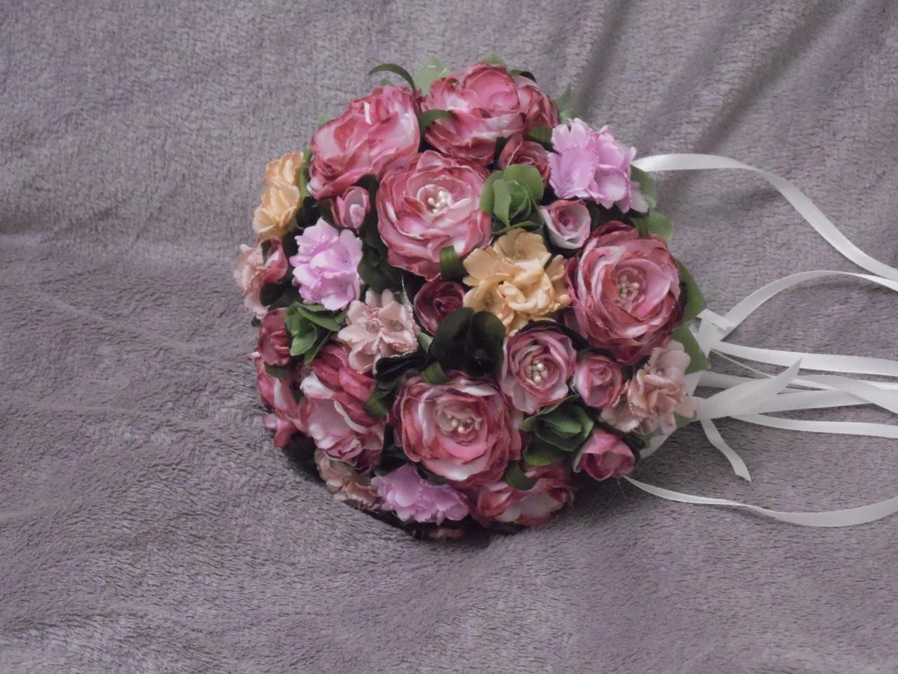 Свадебный букет-дублер розовый омбре
