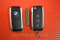 Ключ BMW выкидной для EWS лезвие HU92 Вид Bentley 3 кнопки PCF7935 434Mhz с 95-04г