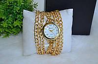 """Стильные женские часы """"Geneva"""" на цепочке."""