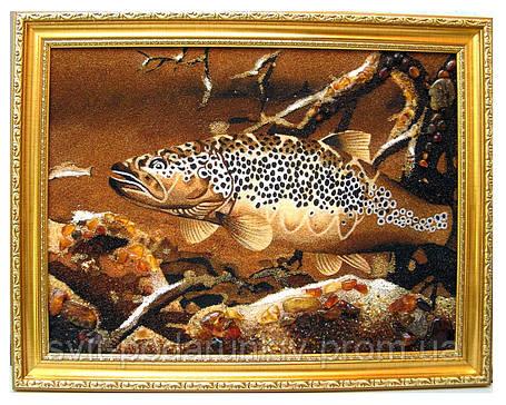 """Картина из янтаря """"Рыба"""", оригиальный подарок, фото 2"""