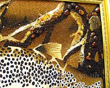 """Картина из янтаря """"Рыба"""", оригиальный подарок, фото 3"""