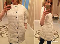 Куртка удлиненная, модель 203, белый