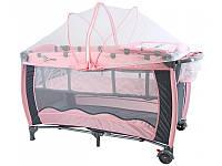 Кроватка для путешествий Clamaro 304 Розовый
