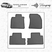 Комплект резиновых ковриков Stingray для автомобиля  TOYOTA AVENSIS 2009-     4шт.