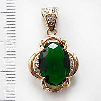 Кулон xuping подвеска с зеленым камнем  2.7см 181